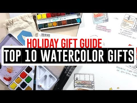 Holiday Gift Guide - Eve's Top 10 Watercolor Gifts