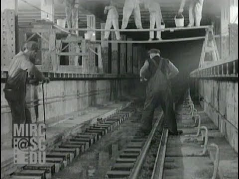 Construction on the IND 8th Avenue Line, 1929 [Sound]