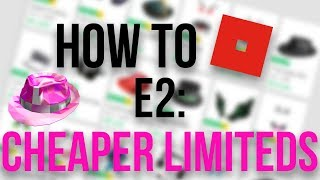 How To Get Limiteds Cheaper On Roblox!