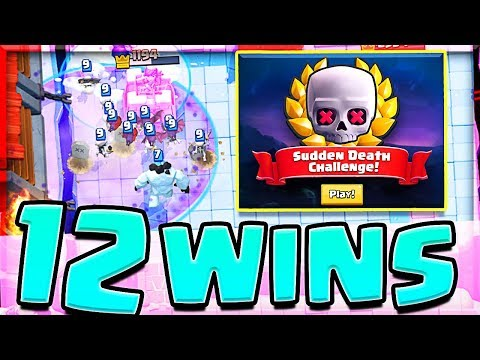 FIRST TRY 12 WINS!! • Best Sudden Death Deck • Clash Royale