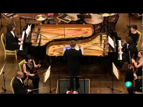 CONCIERTO PARA DOS PIANOS Y PERCUSION DE BELA BARTOK. VICTOR Y LUIS DEL VALLE CON LA ORTVE.