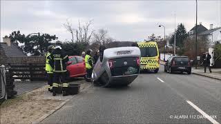 17.11.2018 - bil ender på hovedet - Skodsborg