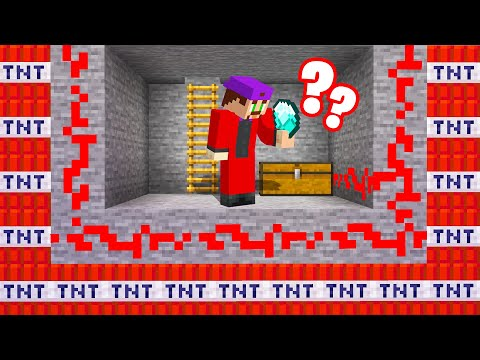 He FELL For My TNT TROLL CHEST In My BASEMENT! (Minecraft