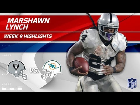 Marshawn Lynch's Strong Night w/ 2 TDs vs. Miami! | Raiders vs. Dolphins | Wk 9 Player Highlights