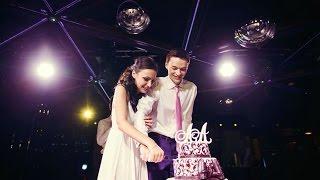 Уронили торт-обманку. Свадьба Насти и Лёши в