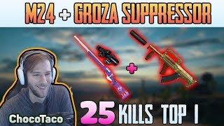 M24 + GROZA - ChocoTaco 25 kills DUO FPP MIRAMAR | PUBG HIGHLIGHTS TOP 1 #158