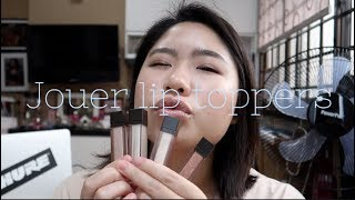 Jouer lip toppers swatches and reviews