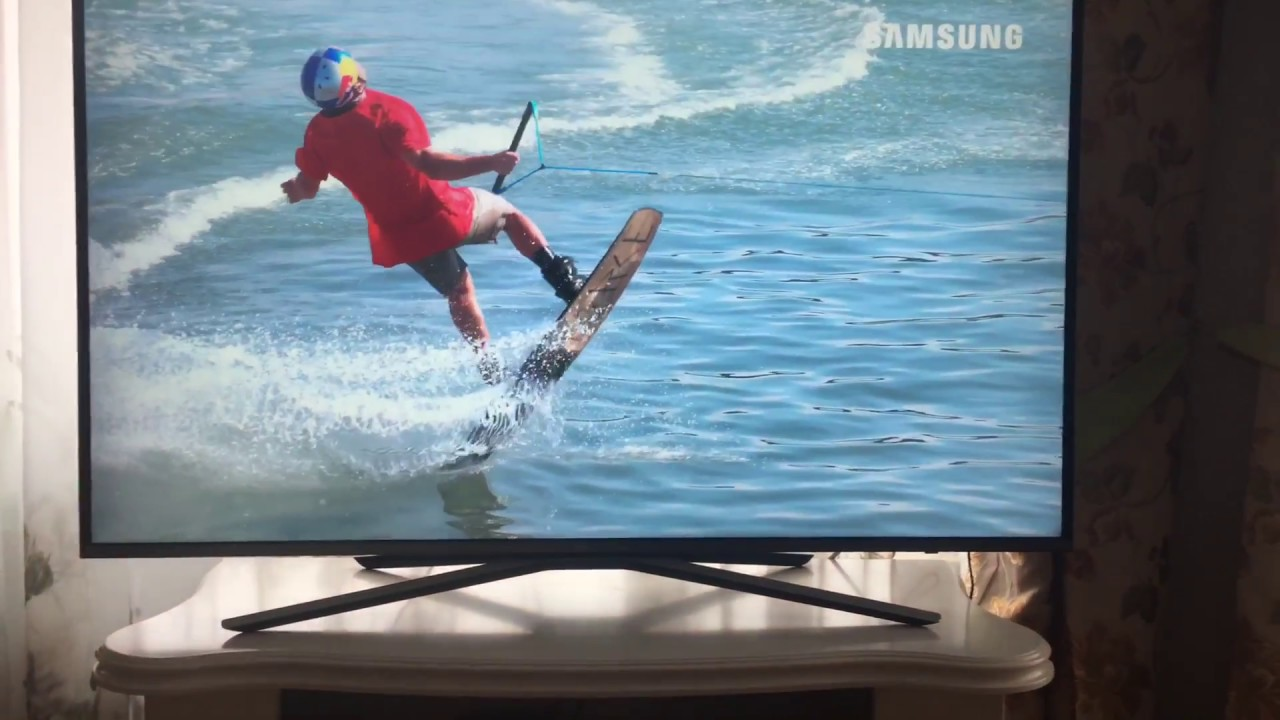 Настройка телевизора Samsung KU6400 - YouTube