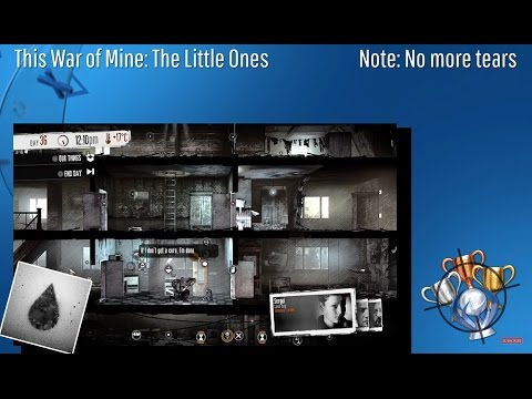 This War Of Mine: The Little Ones - Note: No More Tears - Trophy/Achievement (CZ)