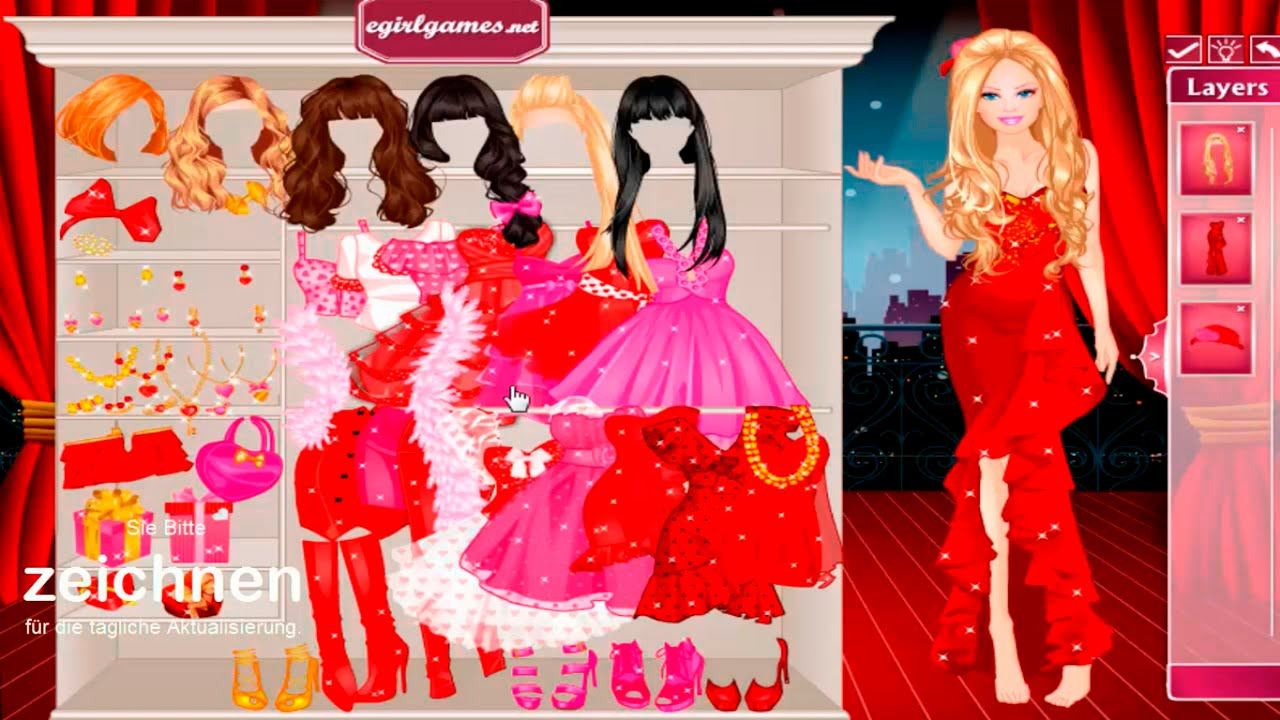 barbie dress up spiele