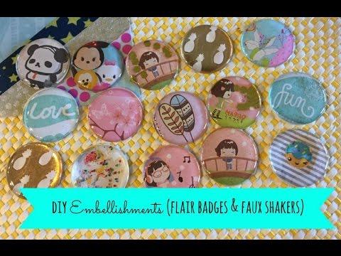 DIY Embellishments (Faux Flair Badges)