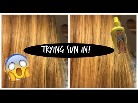 TRYING SUN IN HAIR LIGHTENER!