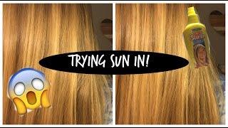 trying sun in hair lightener