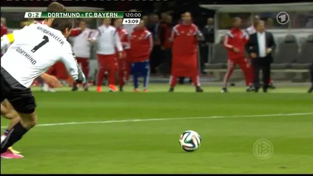 thomas muller goal in fc bayern vs borussia dortmund 2-0 dfb pokal 2014