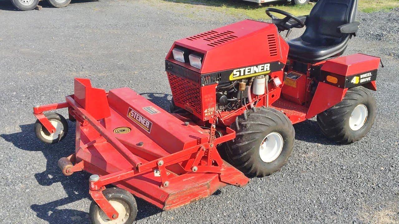 sold steiner 4 wheel drive tractor steiner turf mower. Black Bedroom Furniture Sets. Home Design Ideas