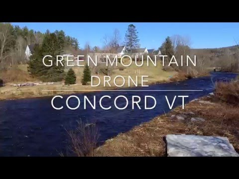 The Moose River and Village of Concord VT
