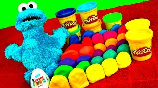 play doh surprise eggs kinder spongebob mickey cars 2 toys barbie lps minnie peppa pig play dough