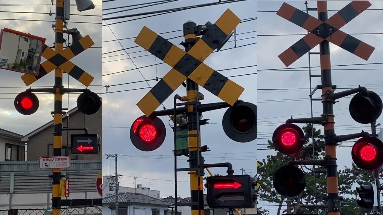 南海本線踏切電でラピートを見ました。阪堺電車건널목에서 전철구경 #33 티유티비
