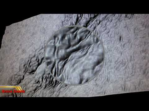 3D Images Of The Apennine Mountains And Anomoly By The Sun