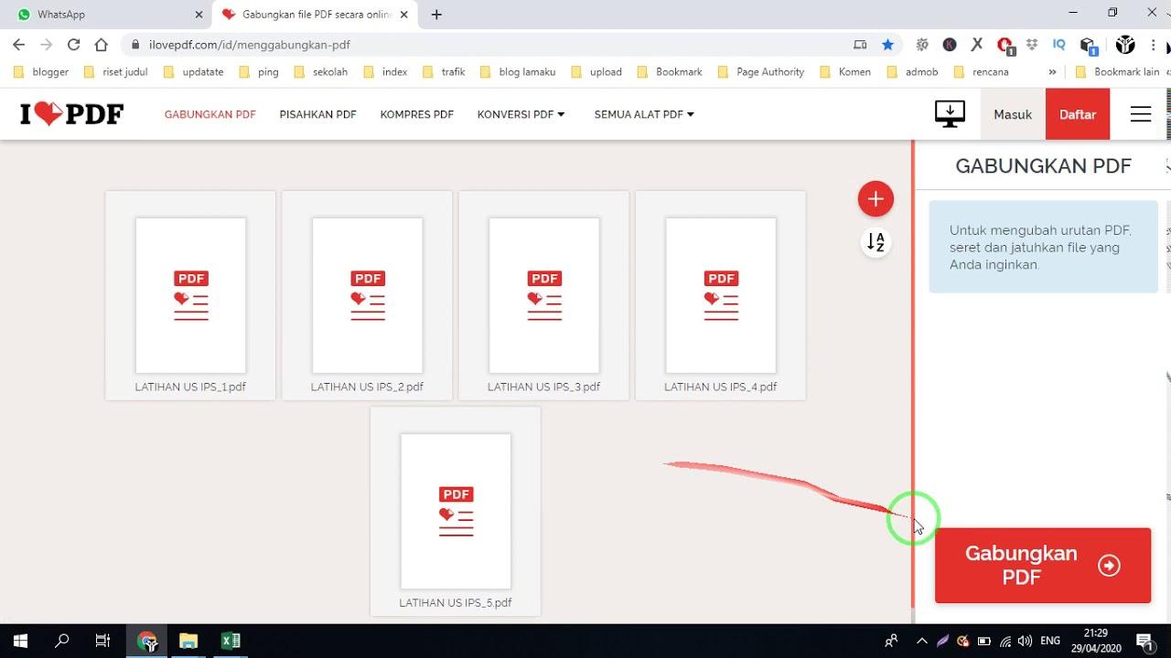 Cara Mudah Menggabungkan File Pdf Menjadi Satu Secara Online Sekolah Sign