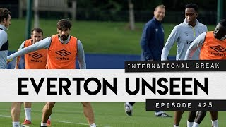 EVERTON UNSEEN #25: GOMES AND MINA TRAIN IN NEW KIT, PLUS INTERNATIONAL CAMPS!
