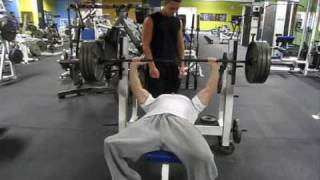 Jesse Levine 405 max bench press Drug free