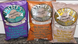 Dirty Potato Chips: Salt & Vinegar, Funky Fusion & Sea Salted Review