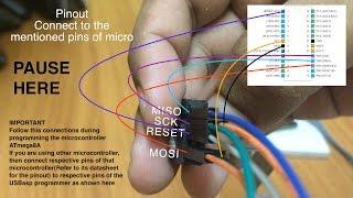 tutorial how to burn program a hex file to a avr microcontroller using usbasp burn o mat