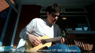E Tuning a Guitalele (and testing an Ammoon Amp-01 amp and installing a preamp)