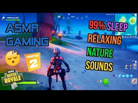 ASMR Gaming 😴 Fortnite Best Comfy Relaxing Nature Sounds 🎮🎧Ambient Game Sounds and Triggers💤
