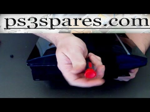 ps3 parts repair guide opening the console fat ps3 youtube. Black Bedroom Furniture Sets. Home Design Ideas