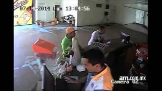 Video de robo a cervecería en Pénjamo