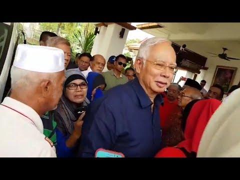 Najib back in Pekan, denies seeking witness protection over 1MDB probe