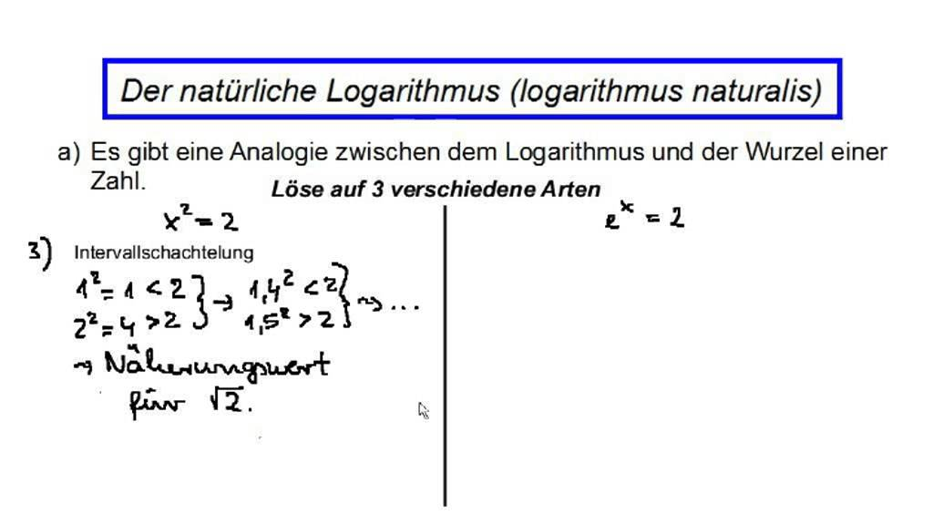 Der natürliche Logarithmus (Teil 1: Grundlagen) - YouTube