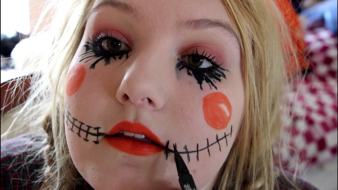 Scarecrow Halloween Tutorial DIY Makeup,Hair,Costume| INEXPENSIVE ...