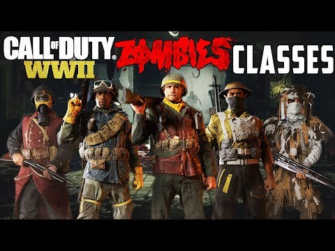 COD WWII ZOMBIES CLASSES - EVERYTHING YOU NEED TO KNOW!