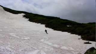 2012.06.16  大雪山系赤岳 雪渓スキー