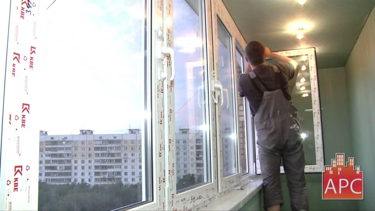 Утепление и отделка лоджии гипсокартоном без малярных работ - YouTube