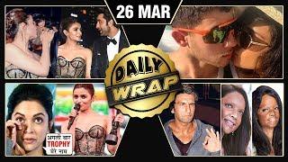 Ranbir Alia KISS, Priyanka Nick Vacation, Deepika APOLOGY To Fans   Top 10 News