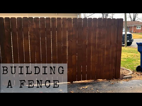 BUILDING/INSTALL A WOODEN FENCE - DIY Fence from scratch