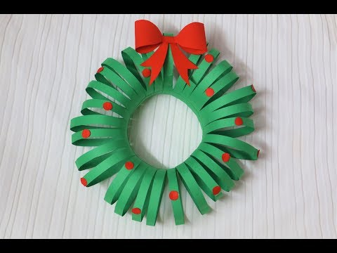 Easiest DIY Christmas Wreath | Paper Crafts | Christmas Decorations | Little Crafties