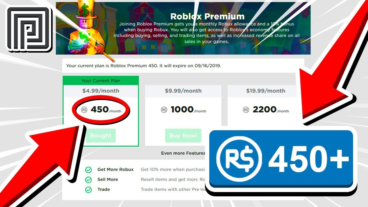 How Much Robux Do You Get From Roblox Premium Youtube
