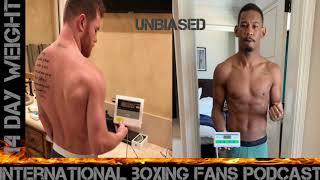 Canelo Alvarez &amp Danny Jacobs 14 day weights 165.4, 166.8