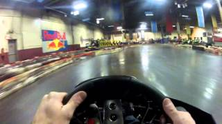 Racing at Speedworld Indoor Kart Track