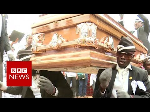 Funeral dancers for hire- BBC News