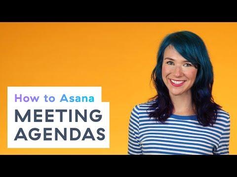 How to Asana: Meeting agendas