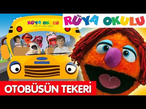 Wheels On The Bus - Turkish - Otobüsün Tekeri Dönüyor - RÜYA OKULU