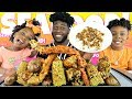 SEAFOOD BOIL MUKBANG WITH BLOVES SAUCE | Interview With My Toddlers | Royal Makes Me Cry | 먹방