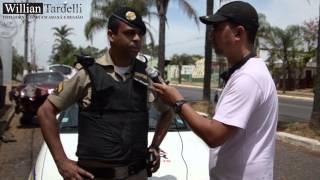 Comando 190 - PM identifica possível desmanche de veiculo em Araxá.