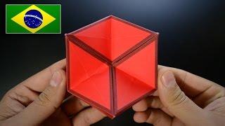 Origami: Brinquedo de Ação / Hexaflexágono 3D - Instruções em Português PT-BR
